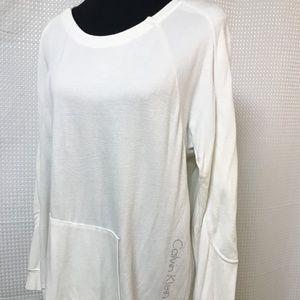 Calvin Klein Jeans White Sweatshirt